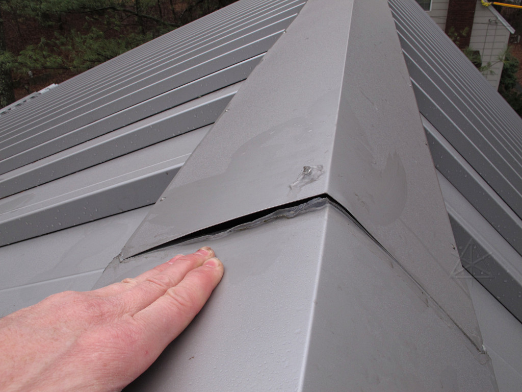 Roof ridge cap fix